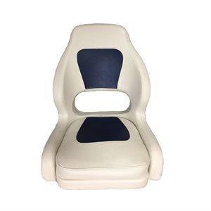 deluxe light & dark grey bucket seat